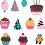 Birthday Set - Illustration