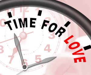 Time For Love Message Shows Romance And Feelings